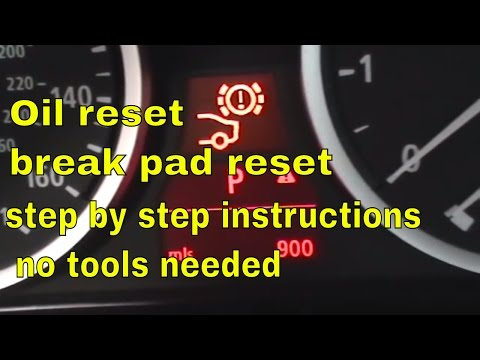BMW 5 Series brake pad reset. oil reset. and service  reset.