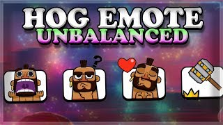 Hog Emotes are OVERPOWERED | Clash Royale 🍊