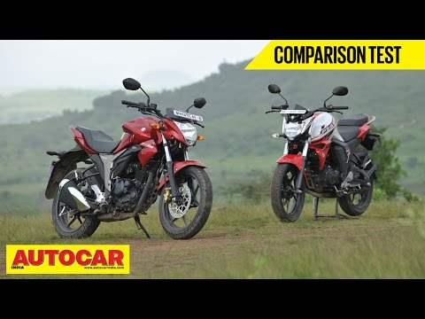 Suzuki Gixxer vs Yamaha FZ-S FI V2.0   Comparison Test Video   Autocar India
