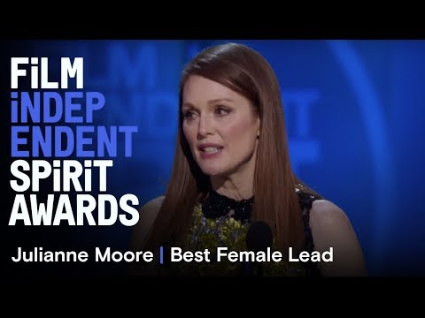 Julianne Moore wins Best Female Lead at the 30th Film Independent Spirit Awards