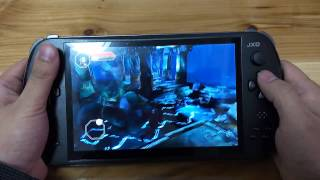 [01 God Fire Android game Played on JXD S7800b handheld game...] Video