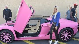 Nicki Minaj Paints Her $400,000 Lamborghini Bright Pink