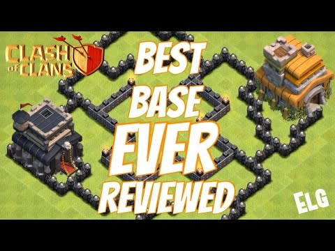 Clash of Clans Best Base I Have EVER Reviewed! Town Hall 8 Farming Base   Town Hall 7 Farming Base