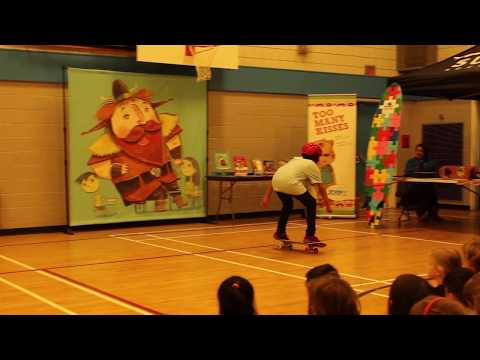 "Killa B  ""I Am Me"" Skateboard Demo at Forest Grove Elementary"
