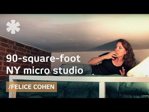 Watching video Simple life Manhattan: a 90-square-foot microstudio