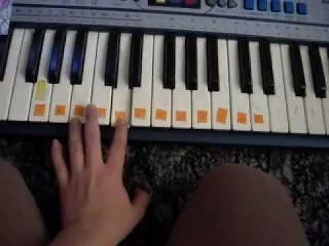 Gra Na Keybordzie- Oj Maluśki (nuty Fgaaa)
