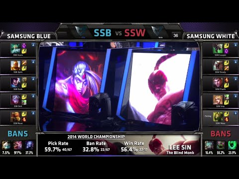 Samsung Blue vs Samsung White | Game 1 Semi Finals S4 Worlds LOL 2014 Playoffs | SSB vs SSW G1