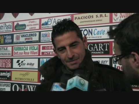 interviste post partita ad Alberigo Evani, allenatore del San Marino e mister Pasquale Padalino allenatore della Nocerina.