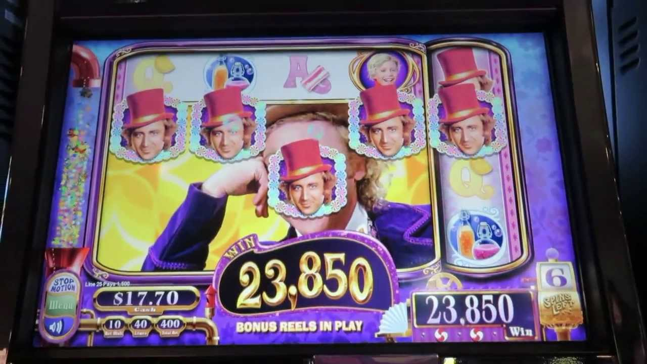 willy wonka slot machine wms