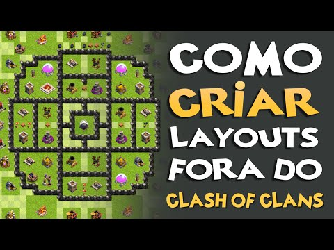 CLASH OF CLANS | Como criar Layouts fora do game? | Layout Builder