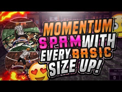 NBA 2K17 SPAMMING MOMENTUM WITH EVERY BASIC SIZE UP ! MOMENTUM SPAM ! HOW TO SPAM MOMENTUM