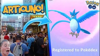 *LEGENDARY ARTICUNO* RAID IN POKÉMON GO! THOUSANDS RUN FOR THE FIRST LEGENDARY BIRD IN POKÉMON GO!