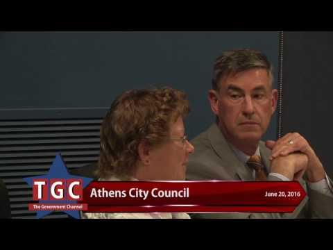 Athens City Council June 20, 2016