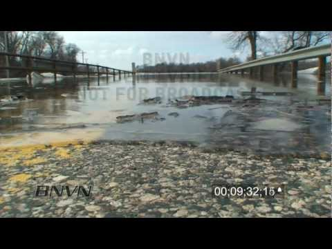 3/16/2010 Red River Valley Flooding stock video