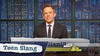 Seth Explains Teen Slang: Robert Mueller, Giuliani