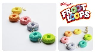 polymer clay Froot Loops CEREAL tutorial (sugar/salt technique)