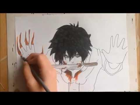 dibujando a jeff the killer