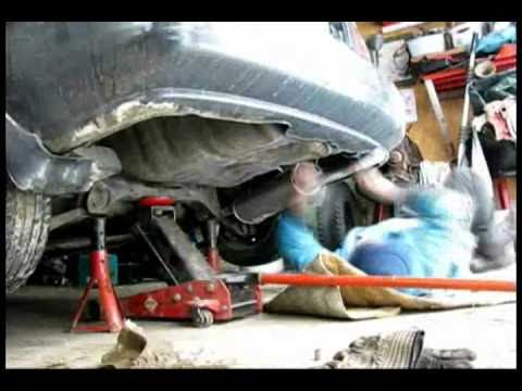 How to tell where your exhaust leak is, Honda Civic muffler