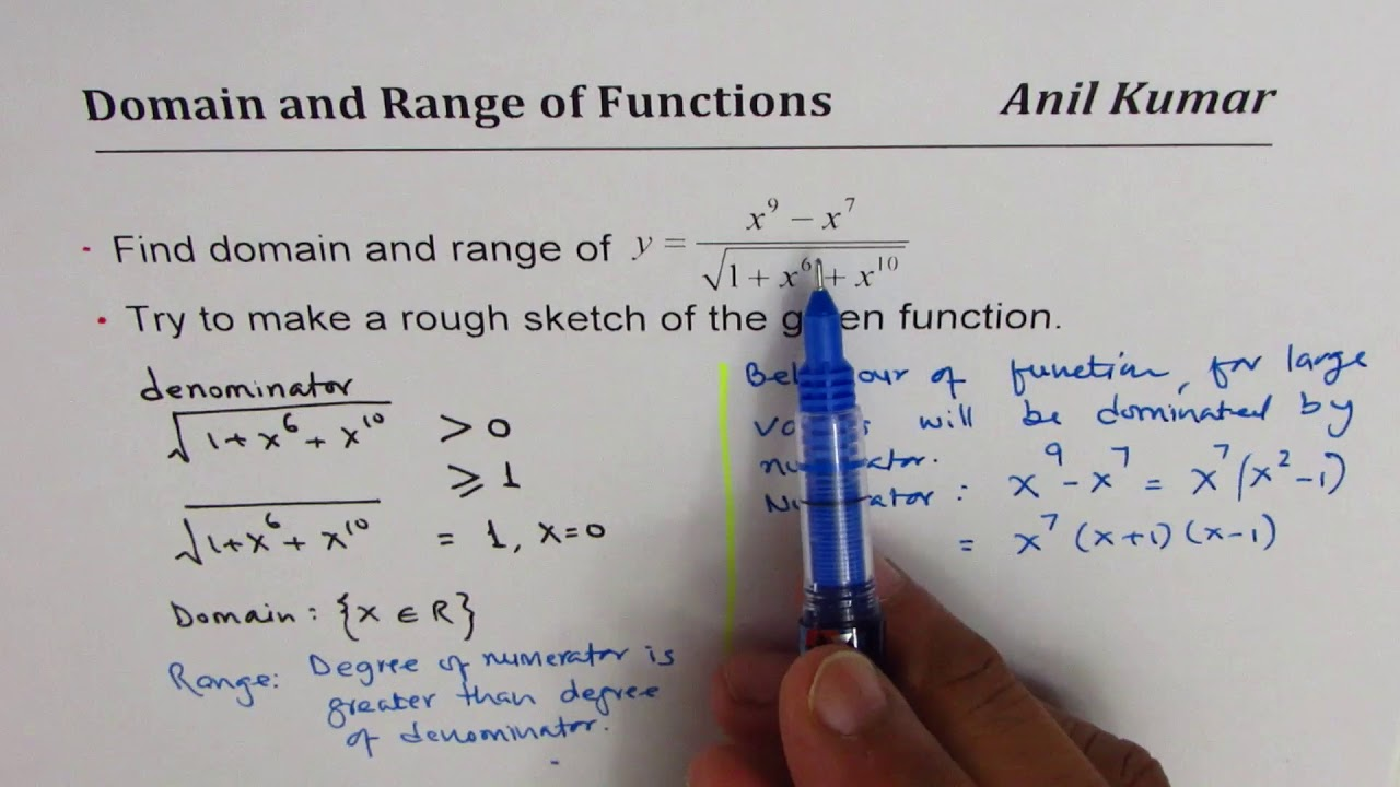Finding the Domain and Range of Linear and Quadratic