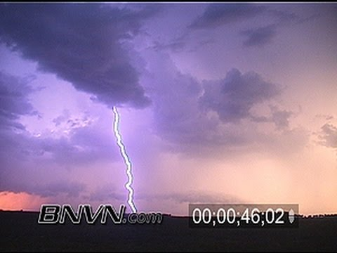 8/29/2001 Intense lightning video at sunset