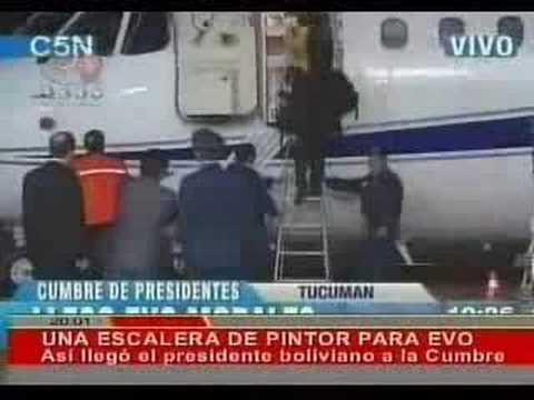 El Avión Sin Escaleras de Evo Morales