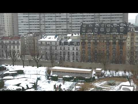 Paris Snow - Free Royalty Footage