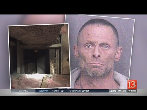 Firefighters rescue Ind. man who wedged inside wall to evade cops
