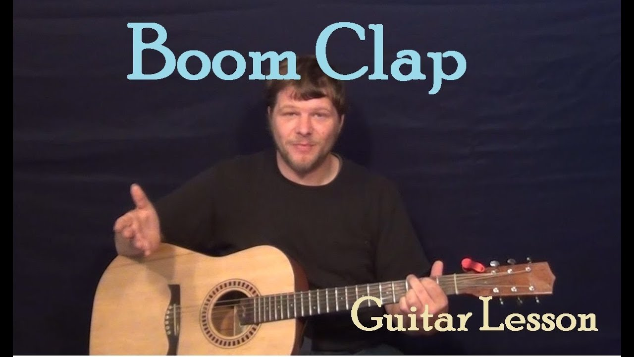 Boom clap charli xcx easy guitar lesson how to play tutorial