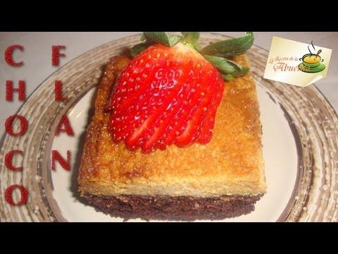 Receta de pastel imposible o Choco flan
