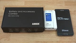Anker 2 x 3220mAh Li-ion Batteries for Samsung Galaxy Note 4 with Anker Travel Charger!