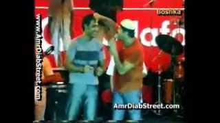 عمرو دياب بيلاعب عمرو مصطفى