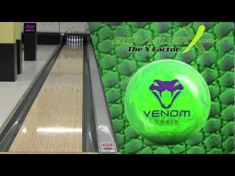 Motiv Venom Toxin Bowling Ball Reaction Video - BowlerX.com
