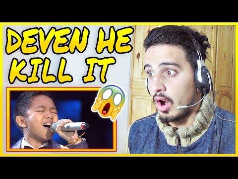 DEVEN - NEVER ENOUGH (Loren Allred) - GRAND FINAL - Indonesian Idol Junior 2018 REACTION