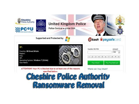 Cheshire Police Authority Ransomware Removal by Britec