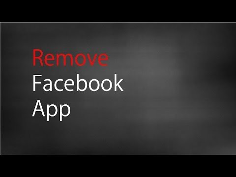 Remove Facebook App (Privacy Issues)