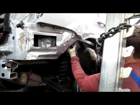 Dodge Caliber Ремонт передней части машины после ДТП