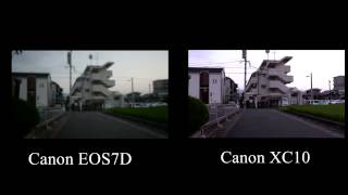 Canon EOS7D VS Canon XC10 手ぶれ補正対決(IS)