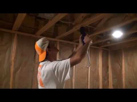 how to hang drywall ceilings youtube