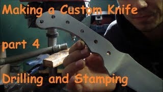 Making a Large Custom Knife - Part 4 - Holes Drilling