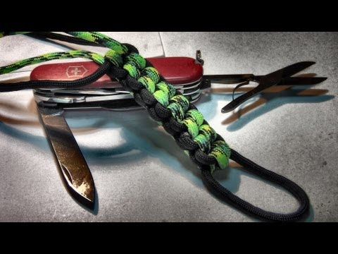 How to tie / make a paracord box / square knot paracord lanyard ( 2 color tutori