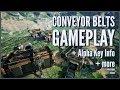 Dev Blog #2: Conveyor Belts/Basic Production Gameplay + Alpha Key Info!