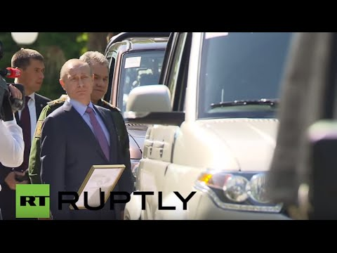 Russia: Latest military vehicles presented to Putin