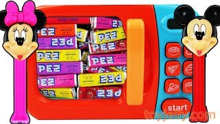 PEZ Candy Toys and Microwave Kitchen Playset Disney Mickey Mouse Learn Colors for Children
