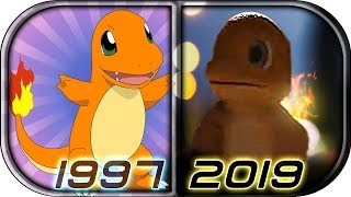 EVOLUTION of 🔥CHARMANDER🔥 in Movies Cartoons Anime TV (1997-2019) Pokémon: Detective Pikachu scene