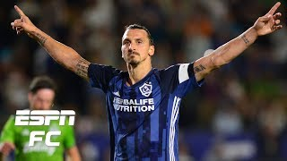 Zlatan Ibrahimovic scores two goals in LA Galaxy draw vs. Seattle Sounders MLS Highlights