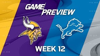 Minnesota Vikings vs. Detroit Lions | NFL Week 12 Game Preview | NFL Playbook
