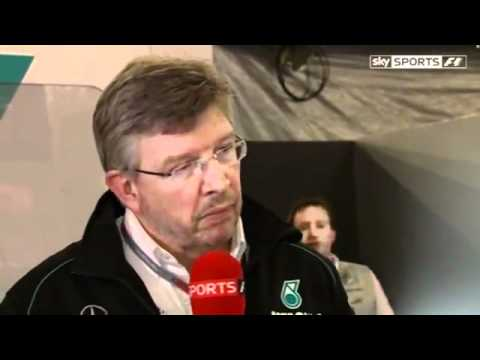 Ross Brawn And Norbert Haug delighted after Mercedes first victory (SKY) China after Race