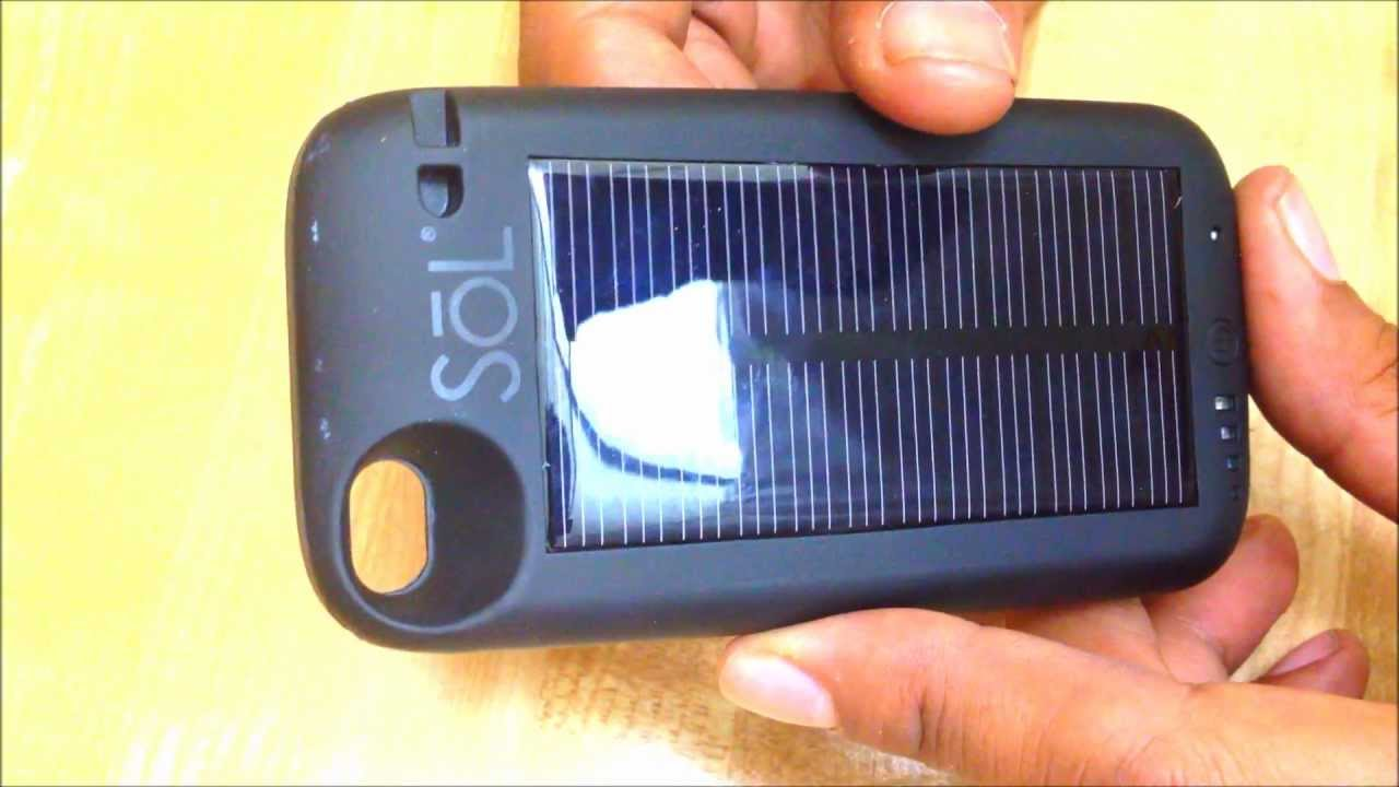 Sol Iphone Solar Charger Does Not Work Hybrid Case Youtube