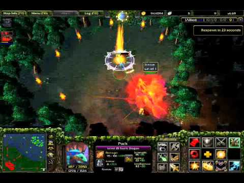 dota 6.69 secret quest solo boss phoenix icarus even after egg reborn NO god-mode