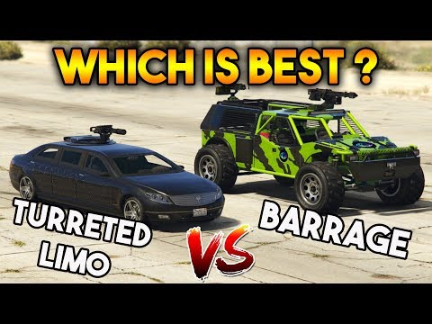GTA 5 ONLINE : BARRAGE VS TURRETED LIMO (WHICH IS BEST VEHICLE?)